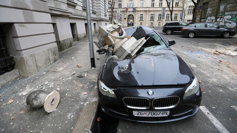 Kroatien: Die Folgen zweier Erdbeben in der Nähe der Hauptstadt in Bildern
