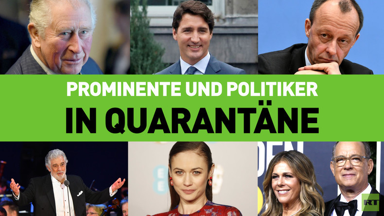 Prominente und Politiker in Quarantäne: Wer ist bereits Corona-positiv?