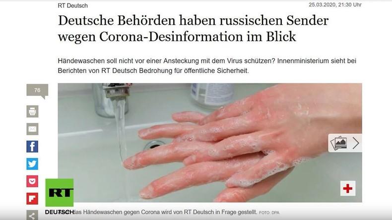 Corona-Berichterstattung: Tagesspiegel und Bild greifen RT Deutsch an