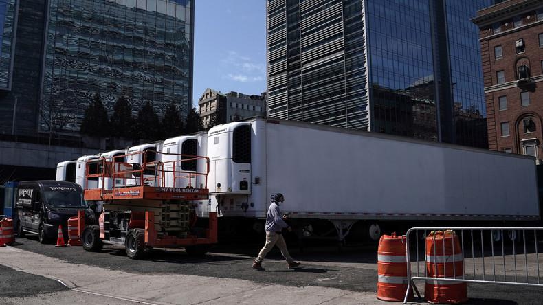 Erstmals seit 9/11: Mobile Leichenhäuser rollen auf die Straßen von New York