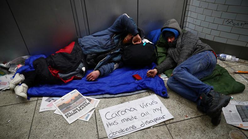 Britische Regierung ordnet Unterbringung aller Obdachlosen bis zum Wochenende an