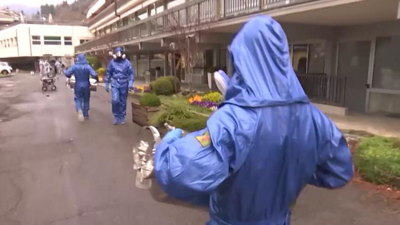 Italien: Russische Spezialkräfte befreien ein Pflegeheim nach dem anderen von Corona-Viren