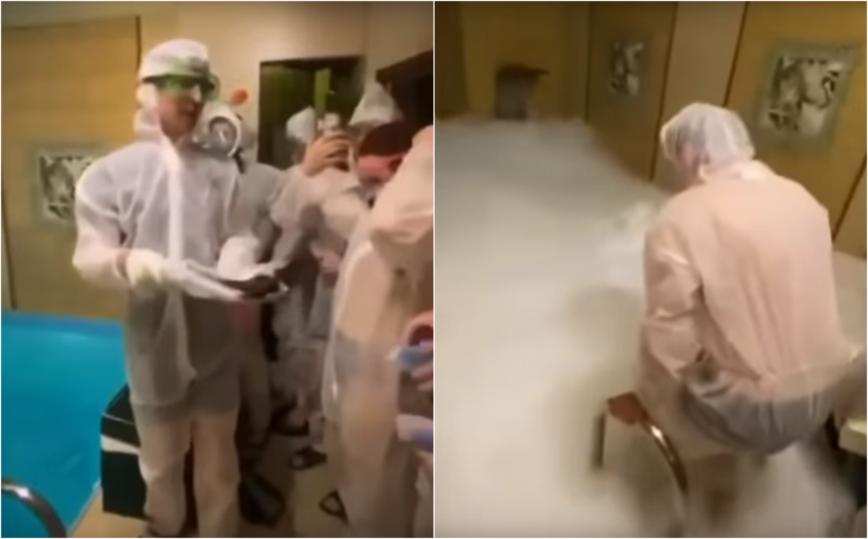 Drei Tote und mehrere Verletzte bei Trockeneis-Party in Moskauer Sauna