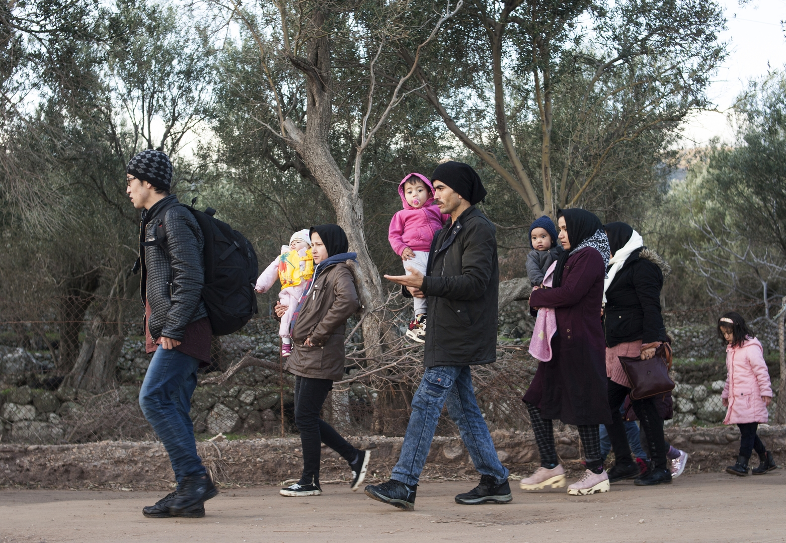 Migranten auf der griechischen Insel Lesbos