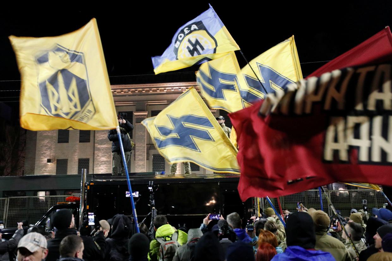 """""""Marsch der Patrioten"""" in Kiew:Drohungen, die russische Botschaft zu stürmen"""