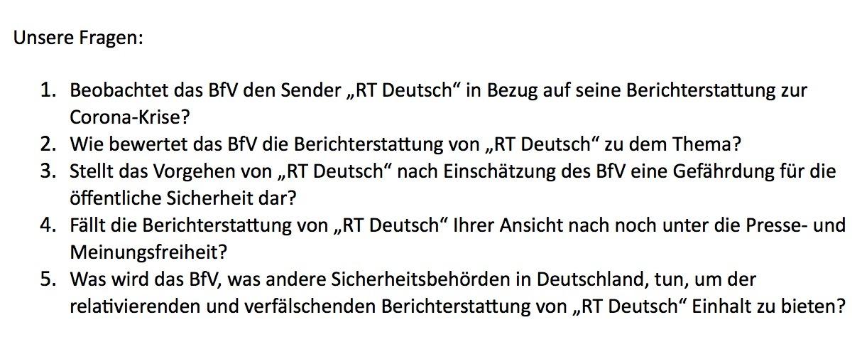 Beobachtet der Verfassungsschutz RT Deutsch wegen Corona? Wie BILD Fake News verbreitet