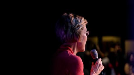 Kandidatin Warren bei Ihrem Wahlkampf in Derry, USA, 6. Februar 2020.