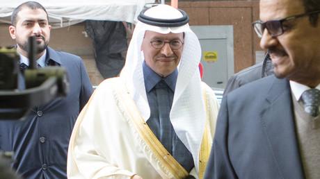 Der saudische Energieminister, Prinz Abdulaziz bin Salman Al-Saud, bei der Ankunft am 6. März in Wien zu einem Treffen der OPEC+-Länder.
