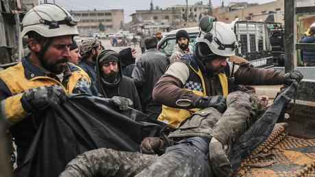 Archivbild: Die mit al-Qaida verbündeten Weißhelme in Aktion (Idlib, 11. Februar 2020).