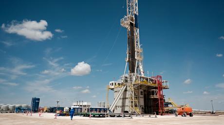 Chevron-Ölexplorationsbohrstelle bei Midland, USA