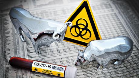 Globale Märkte im Sinkflug wegen Corona-Pandemie und US-Grenzschließung (Symbolbild)