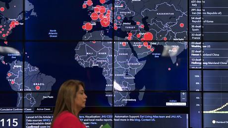 Symbolbild: Karte zur Ausbreitung des Coronavirus
