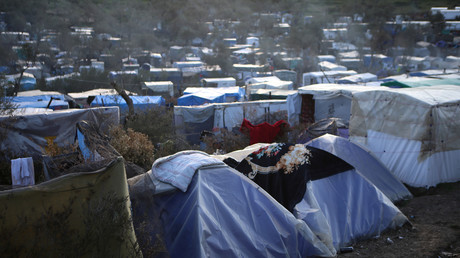 Das Flüchtlingslager Moria auf Lesbos ist hoffnungslos überfüllt.