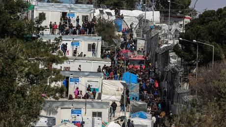 Migrantencamp Moria auf der griechischen Lesbos ist hoffnungslos mit Menschen überfüllt (Bild vom 16. März).