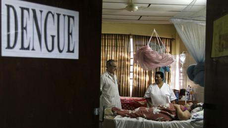 Mit dem Dengue-Virus infizierte Patientin in der paraguayischen Hauptstadt Asunción