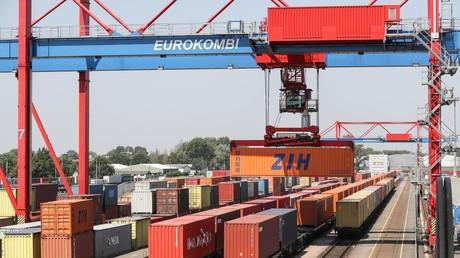 Güterzüge in Hamburg