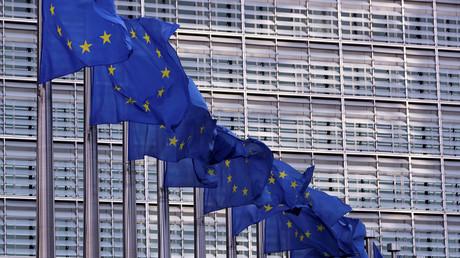 Der Sitz der EU-Kommission, Brüssel, Belgien