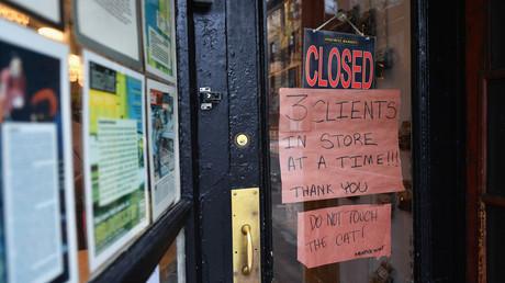 Geschlossener Laden in Brooklyn/New York am 20. März.