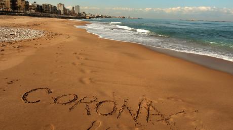 Menschenleerer Strand in Beirut/Libanon am 22. März.