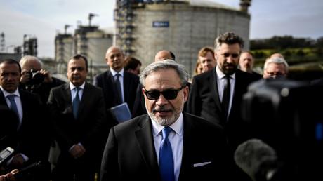 US-Energieminister Dan Brouillette beim Besuch des LNG-Terminals in Sines/Portugal am 12. Februar, wo künftig Flüssiggas aus den USA eintreffen wird.
