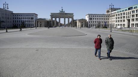 Am Pariser Platz in Berlin am Montag dieser Woche
