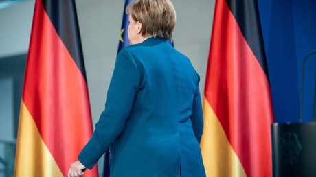 Angela Merkel am Sonntagabend in Berlin