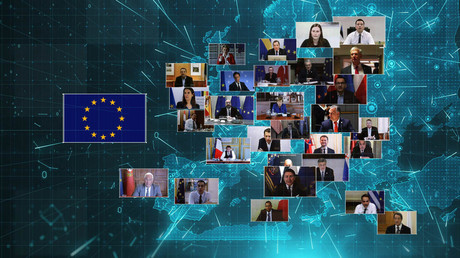 An dem letzten EU-Gipfel nahmen die Staatschefs der Mitgliedsländer nur per Videoschalte bei.