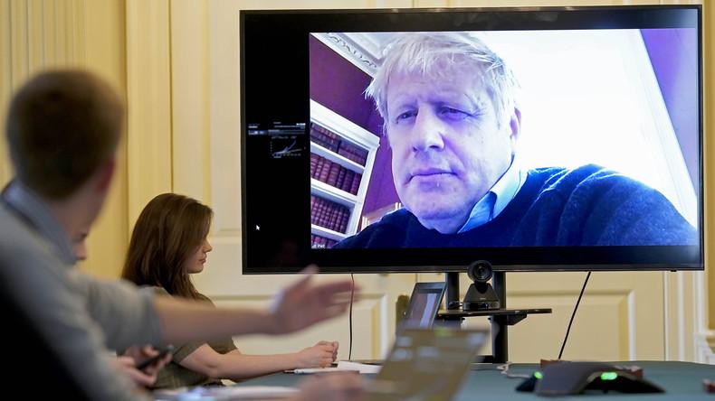 Sag uns das Passwort, Boris: Britischer Premier zeigt ID-Nummer seiner Online-Kabinettssitzung