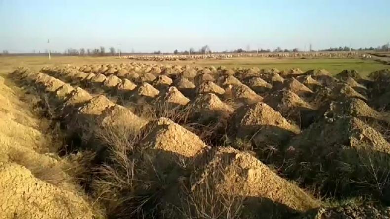 Ukraine: Sechshundert Gräber für mögliche Opfer des Coronavirus in Dnipro ausgehoben