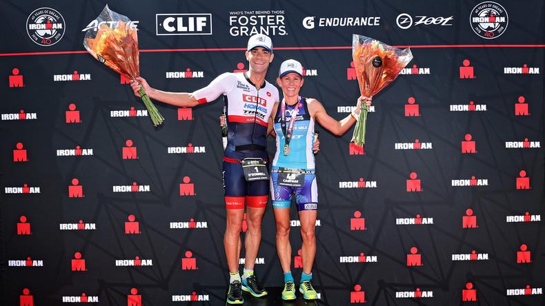 Sie haben Ihr Ziel erreicht: Ehemann zieht Triathletin bei virtuellem Ironman den Stecker