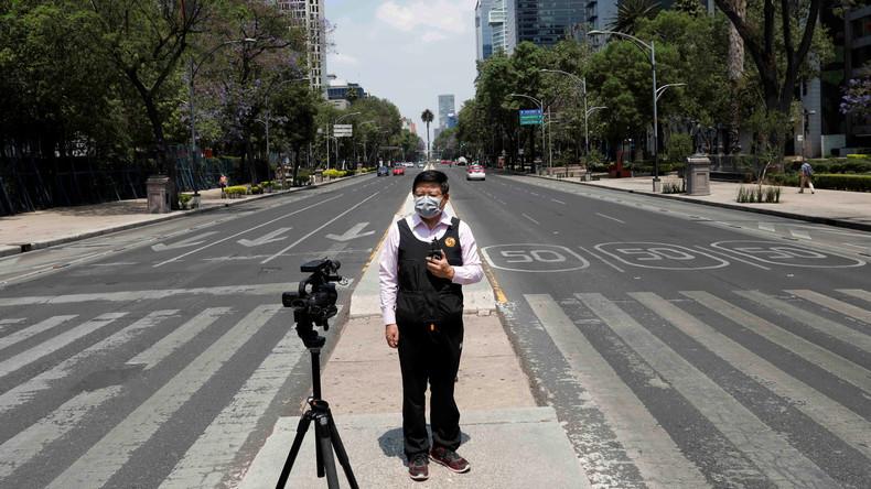 Drohnenaufnahmen zeigen die verlassenen Straßen von Mexiko-Stadt