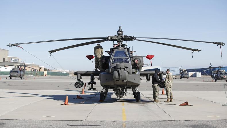 EXKLUSIV: Staffel von US-Militärhubschraubern fliegt über Sachsen