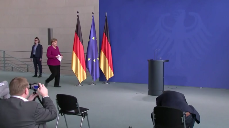 """Merkel verlangt Einhaltung der Quarantänevorschriften und ruft zu """"Konzentration und Disziplin"""" auf"""