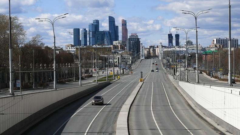 Coronavirus in Moskau: Drohne filmt menschenleere Stadt