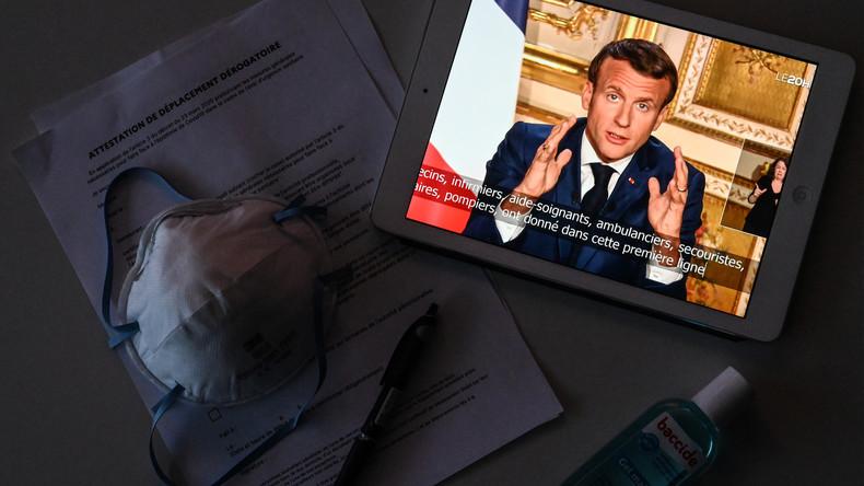"""Waren nicht vorbereitet"": Emmanuel Macron verlängert Ausgangsbeschränkungen bis zum 11. Mai"