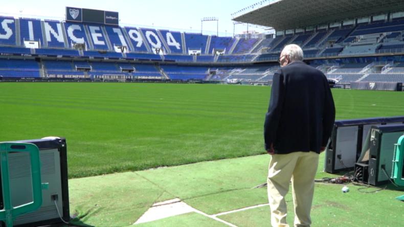 Spanien: 83-jähriger FC-Malaga-Fan verbringt Quarantäne in verlassenem Fußballstadion