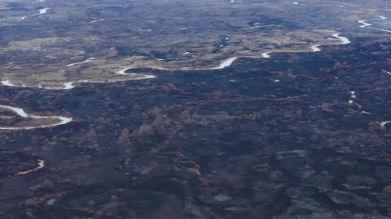"""Drohne zeigt Ausmaß der Waldbrände in Tschernobyl – laut Behörden sei """"alles unter Kontrolle"""""""