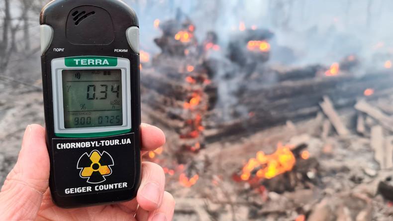 Deutschland hilft Ukraine bei Löscharbeiten um Tschernobyl