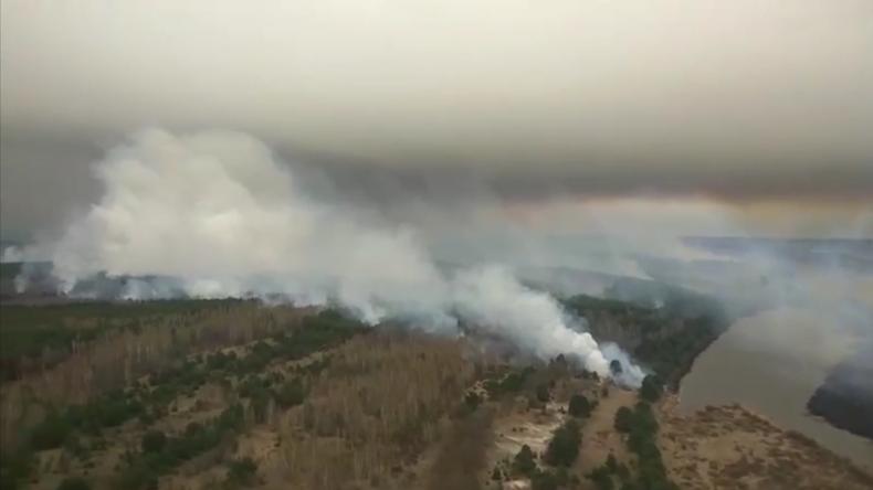 Ukraine: Verheerende Waldbrände rund um Tschernobyl – Deutschland hilft