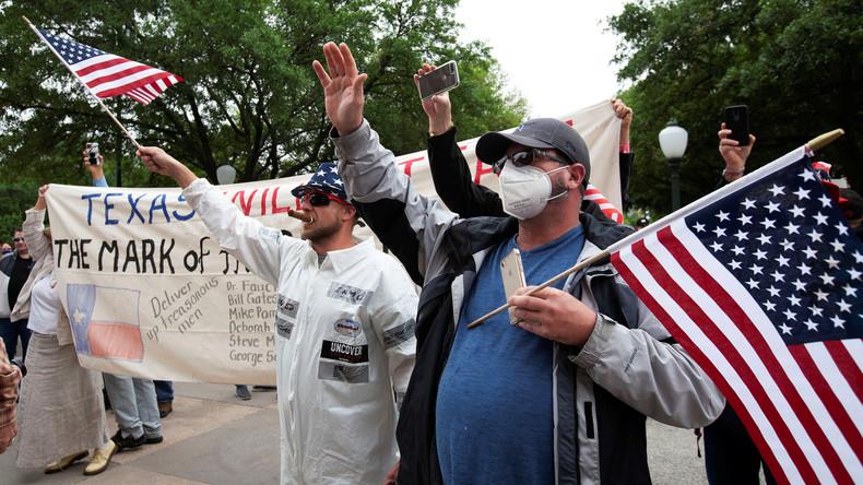 USA: Proteste für Abschaffung der Corona-Beschränkungen (Video)