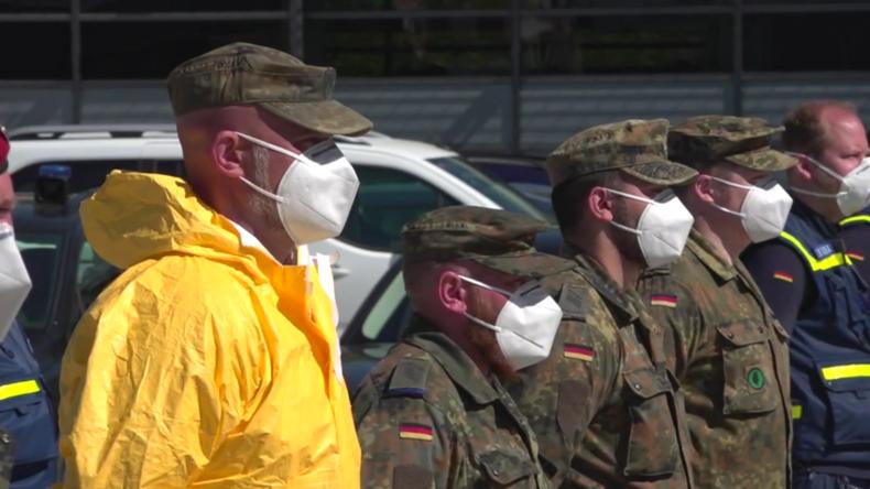 Bundeswehr im produktiven Einsatz: Herstellung von Desinfektionsmitteln für Zivilbevölkerung