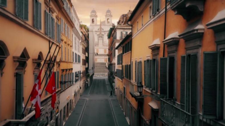 Gründungs-Jubiläum:Drohnenaufnahmen zeigen Wahrzeichen Roms während Lockdown