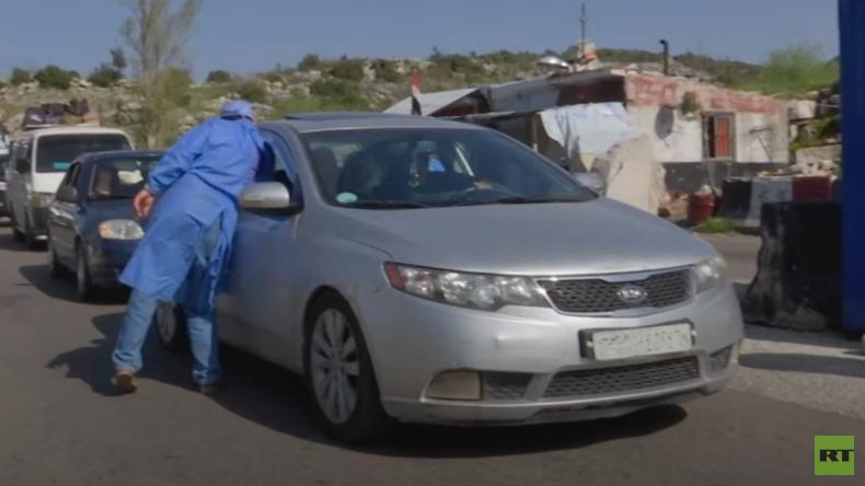 Syrien in der Corona-Krise: Ärzte messen bei allen Autofahrern Fieber (Video)