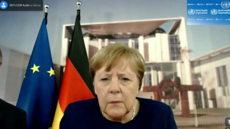 """Can you hear me now?"" – Angela Merkel erlebt die Tücken des Homeoffice-Alltags"