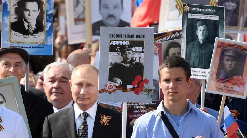 """Russland: Gedenkmarsch des """"Unsterblichen Regiments"""" dieses Jahr im virtuellen Format"""