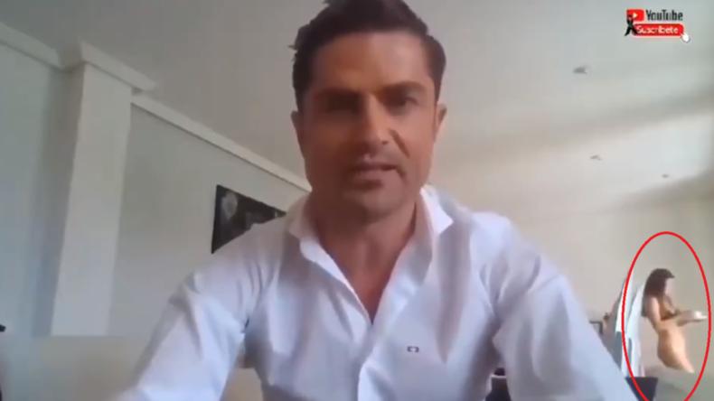 Seitensprung aufgeflogen: Liebhaberin taucht mitten im Livestream-Interview unten ohne auf