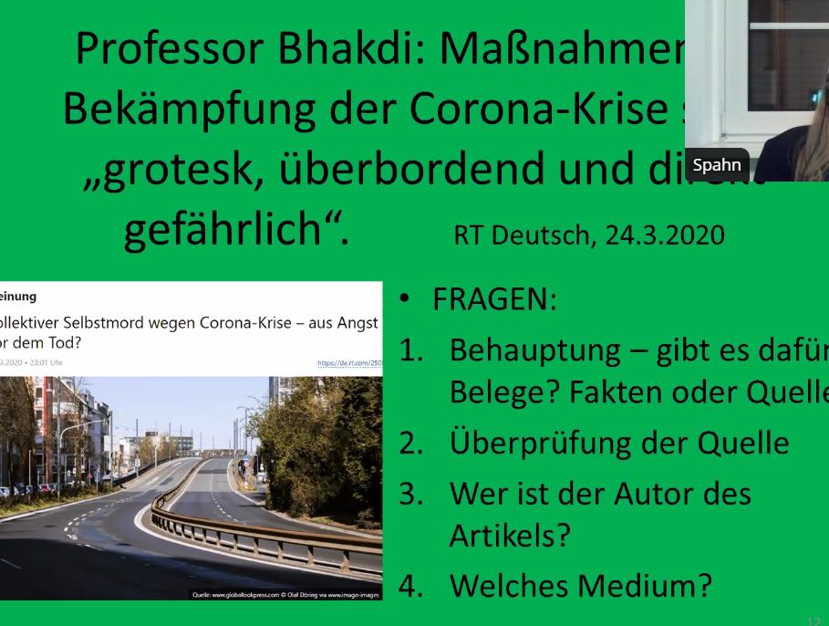 """""""RT Deutsch ist Teil des russischen Informationskrieges"""": Alte Mythen in Corona-Krise neu sortiert"""