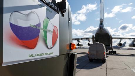 Die russischen Hilfslieferungen für Italien sind NATO-Strategen ein Dorn im Auge.