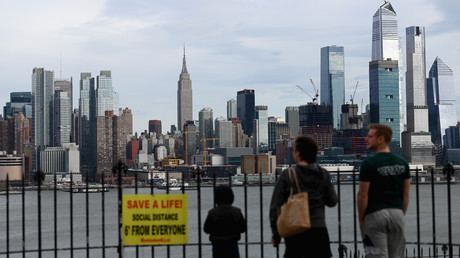 Skyline von Manhattan am 2. April.