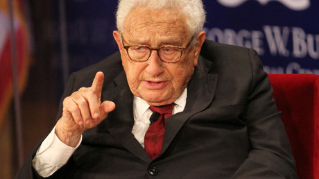 Henry Kissinger spricht auf dem Podium des George W. Bush Presidential Center's 2019 Forum on Leadership, Dallas, 2019, (Symbolbild)